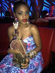Chidinma with her award
