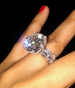 THE BLUE DIAMOND SPARKLING IN THE RING