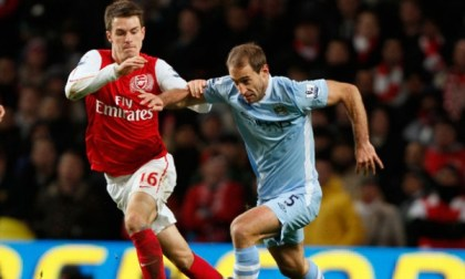 Pablo Zabaleta and Aaron Ramsey