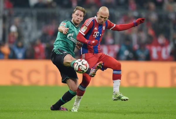 Arjen Robben in Action Against Schalke at the Allianz Arena. Image: Getty.