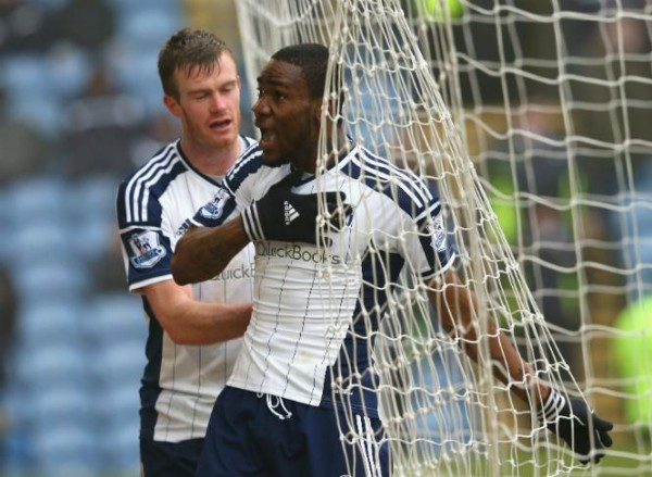 Brown Ideye Celebrates His Third Goal Since Joining west Bromwich Albion. Image: Getty.
