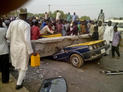 seven killed in Kano pedestrian bridge collapse