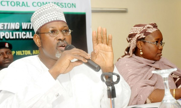 PIC.10. INEC CHAIRMAN, PROF. ATTAHIRU JEGA (L) WITH CHAIRMAN, POLITICAL PARTIES MONITORING COMMITTEE, HAJIYA AMINA BALA-ZAKARI AT THE INEC CONSULTATIVE MEETING WITH LEADERS OF REGISTERED POLITICAL PARTIES IN ABUJA ON TUESDAY (21/9/10)