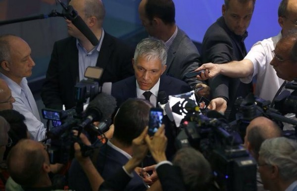 Swiss Attorney General Michael Lauber Briefs the Media Following a News Conference in Bern. Image: Ruben Speich/ Reuters.