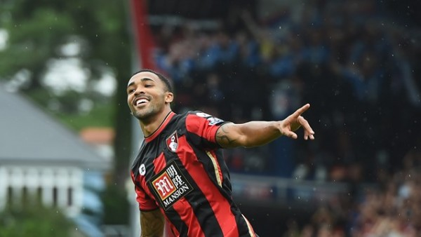 Bournemouth's Callum Wilson Celebrates His Fourth Goal in as Many Matches against Leicester City. Image: Getty.