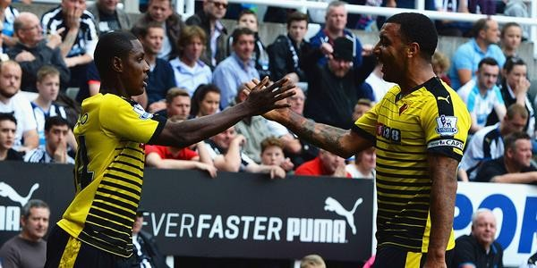 Odion Ighalo Celebrates His Fourth Goal of the 2015-16 Premier League Season at St James' Park. Image: Getty.