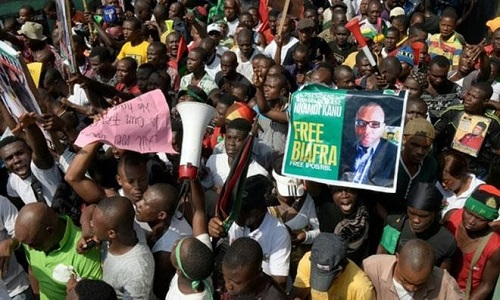 Biafra-protesters