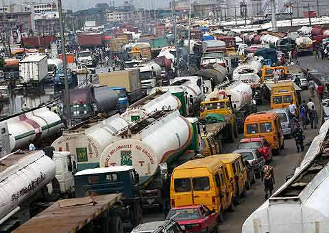 Decongestion of the gridlock in Apapa, 100% complete