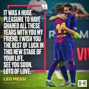 Messi's Emotional of neymar