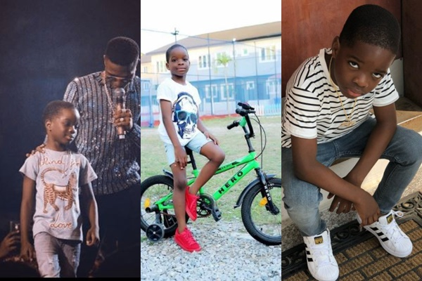 Wizkid and his first son, Boluwatife