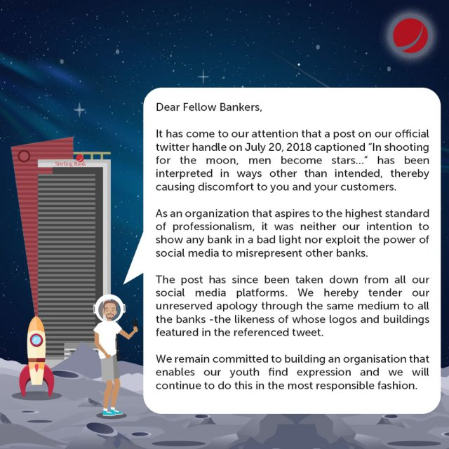 Bank apologizes