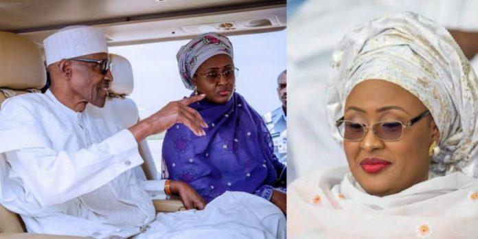 Aisha Buhari and husband