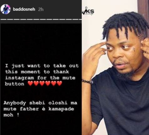 Lol! Olamide thanks Instagram for this one feature
