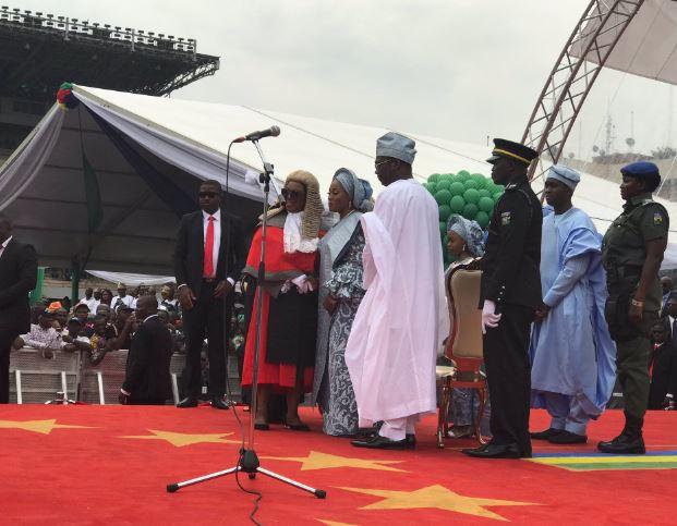 Photos from Babajide Sanwo-Olu's swearing in