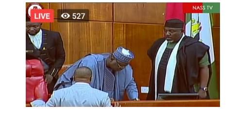 [Photos]: Rochas Okorocha sworn in as senator in Imo
