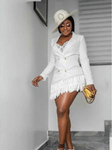 Photo: See How Ini Edo Slayed It At Funke Akindele's ''Aiyetoro'' Movie Premiere