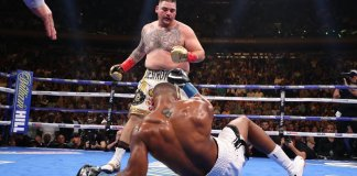 Video: Moment our ''own'' Anthony Joshua Was Beaten Like He Stole By Andy Ruiz