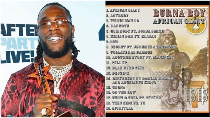 Burna Boy's New Album Tops Charts In 10 Different Countries