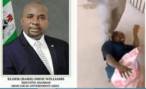 Barrister Imoh Williams and the assaulted  artisan