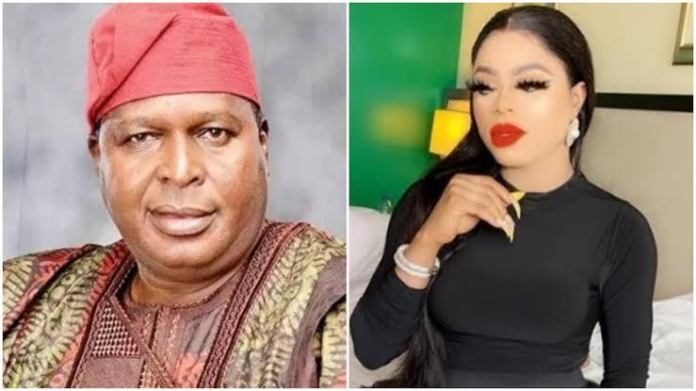 Otunba Olusegun Runsewe and Bobrisky