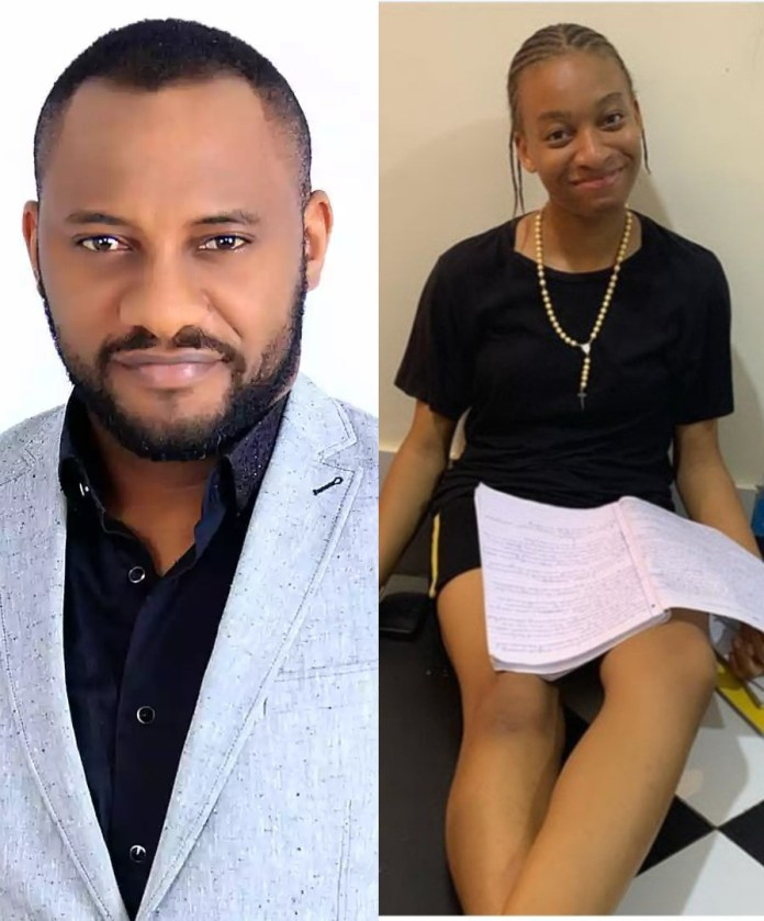 Yul Edochie and daughter