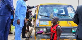 Obafemi Hamzat while arresting motorists