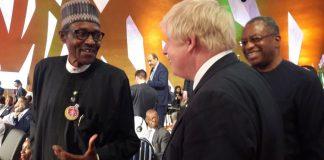 president Buhari and Boris Johnson