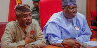Speaker Femi Gbajabiamila and Senate president Ahmed Lawan