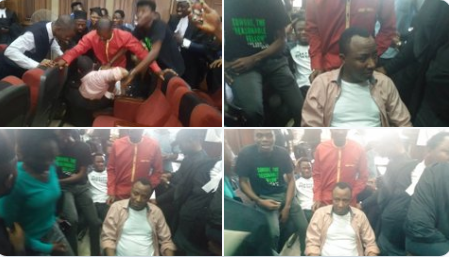 Omoyele Sowore in the courtroom