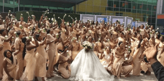 Sandra Ikeji marries with 200 bridesmaid