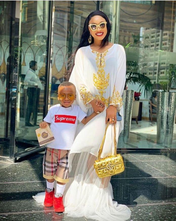 Tonto Dikeh and her son