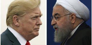 Trump and Iran President, Rouhani