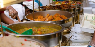 photo of meal served at the wedding