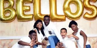 Funke Akindele-Bello, her husband and children