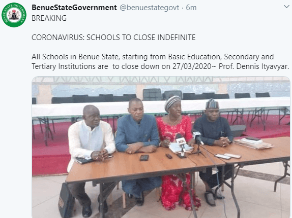 The tweet by the State Government