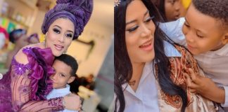 Adunni Ade and her son