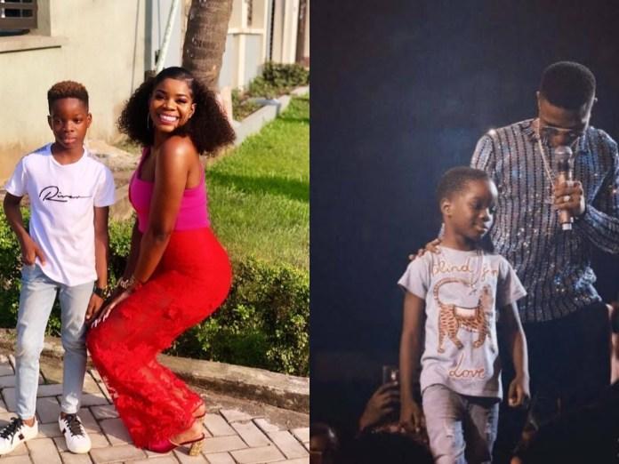 Wizkid's first babymama, Shola Ogudu and their son