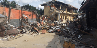 Demolished hotel in Rivers State