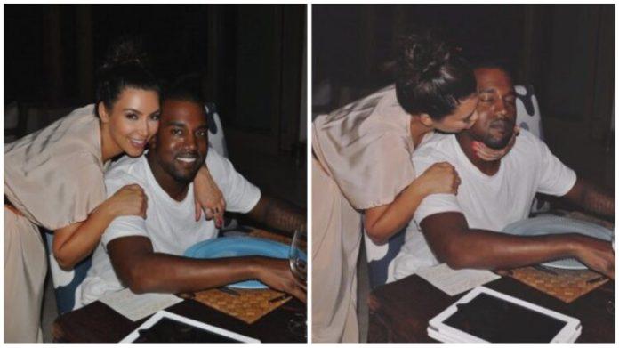 Kim Kardashian and her husband, Kanye West