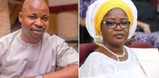 Photo of MC Oluomo and Tinubu's daughter