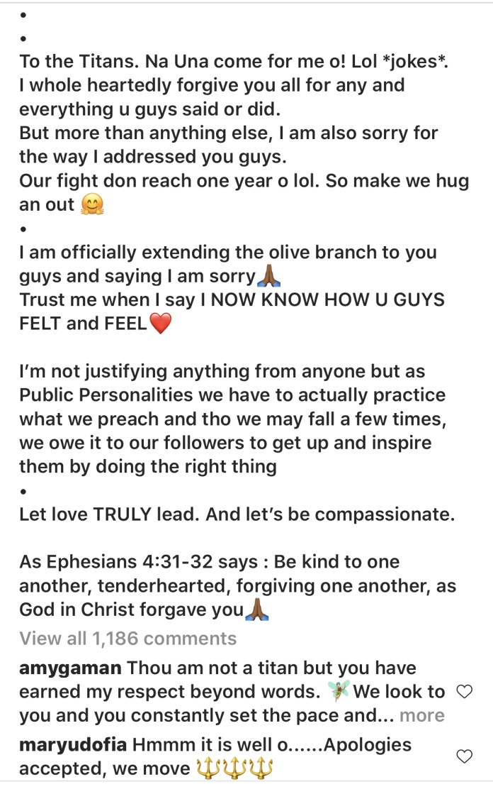 Uti Nwachukwu Finally Apologizes To Tacha Over Insensitive Comments He Made About Her In 2019
