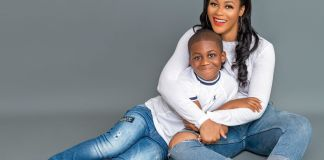Damilola Adegbite and her son