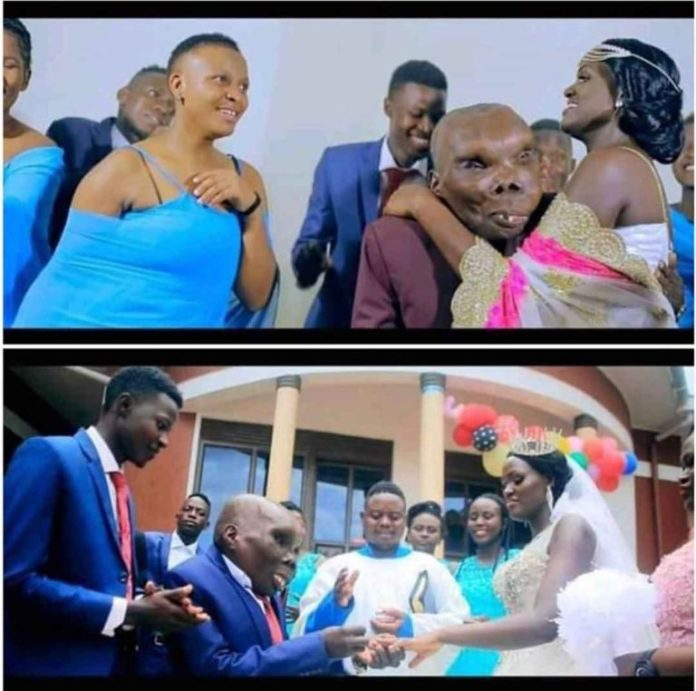 "ugliest man, Uganda's ""Ugliest man"" marries third wife in grand style (Photos)"