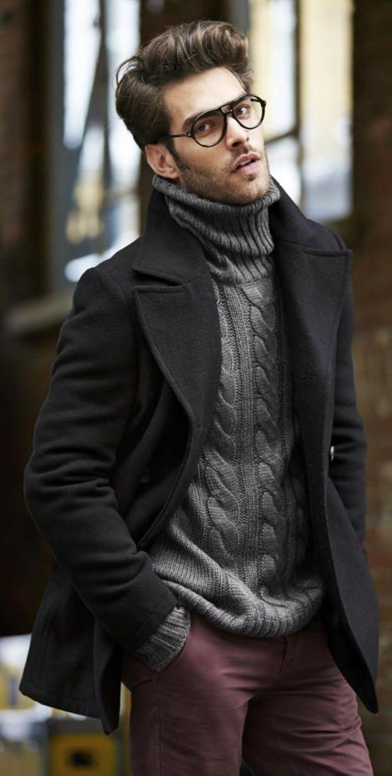 Formal wear with Turtle Neck Knits