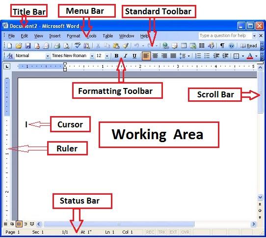 Microsoft Word 2003 window