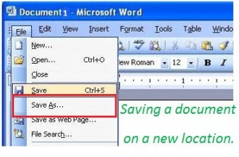 Save as  Document