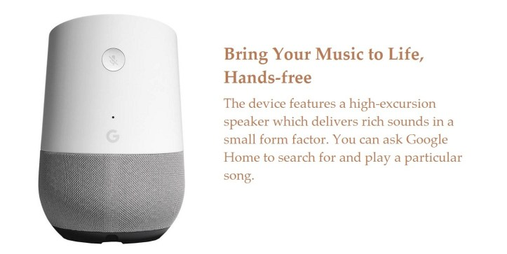 Google Home Specifications 1