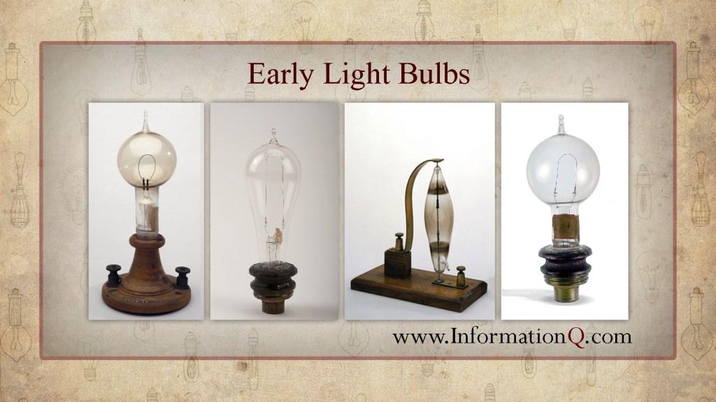 Early Light Bulbs