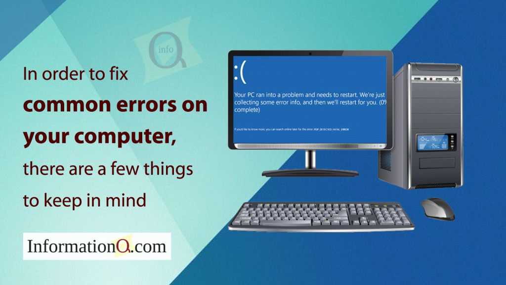 In order to fix common errors on your computer, there are a few things to keep in mind.