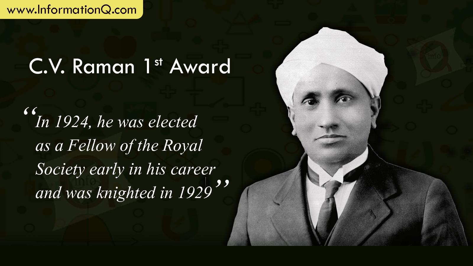 C.V. Raman 1st Award